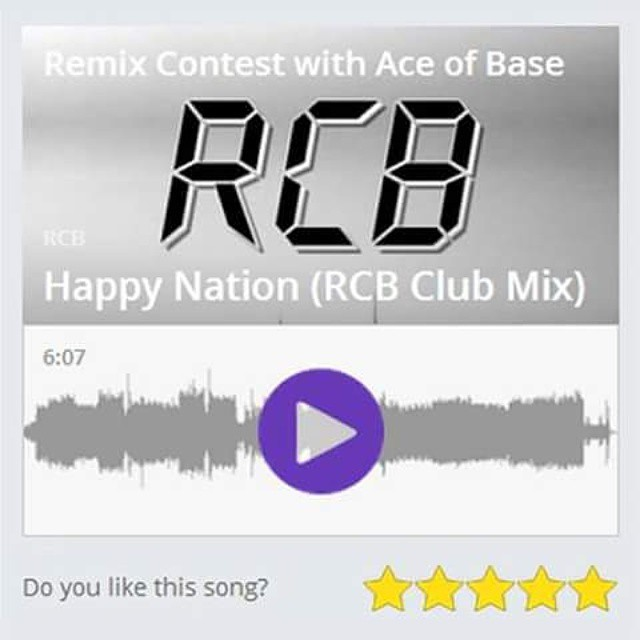 "Please RATE ""Happy Nation (RCB Club Mix)"" 5 stars and help me stay ..."